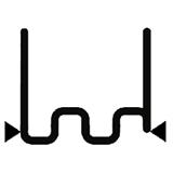 Перейти к Скоба крупная змейка надрезанная 0.8 мм (100 шт.)