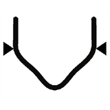 Перейти к Скоба с внешним углом надрезанная 0.8 мм (100 шт.)